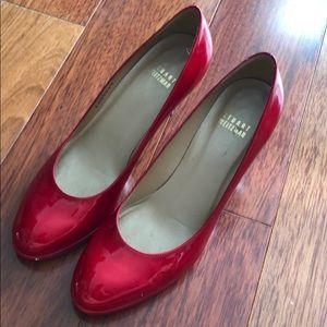 Stuart Weitzman- Ruby Red Heels- SIZE 6.5